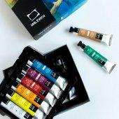 Масляные краски стандартный набор, гуашь или акрил