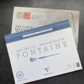 Бумага для акварели (плотность 200 gm, среднее или мелкое зерно), рекомдуемые  производители Canson, Fabriano, Sanders Watercolor, Clair Fontain, Малевич